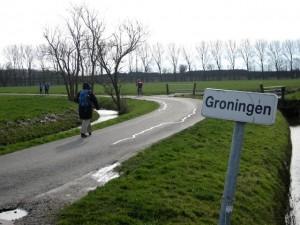 Aankomst in Groningen bij de wierde Paddenpoel